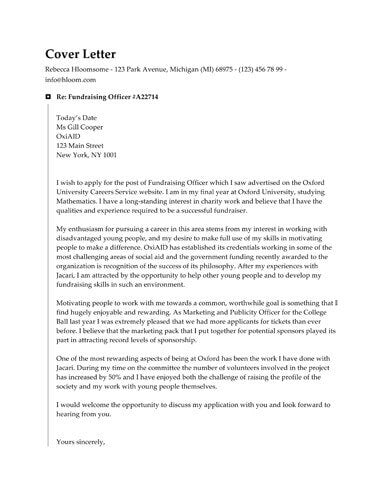 microsoft word cover letter format