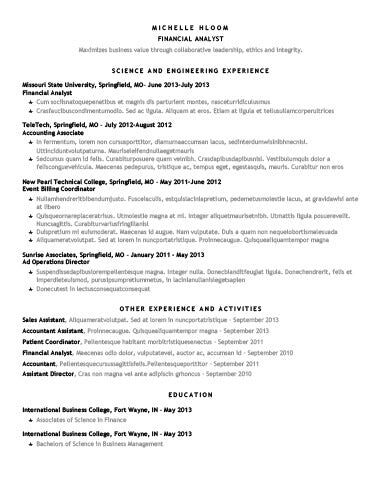 free chronological star showing cv resume template in microsoft word