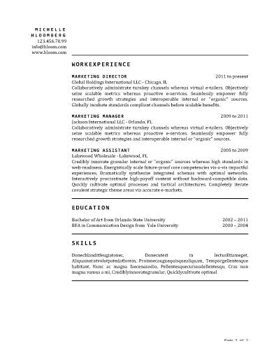 Free Chronological Time Honored Cv Resume Template In