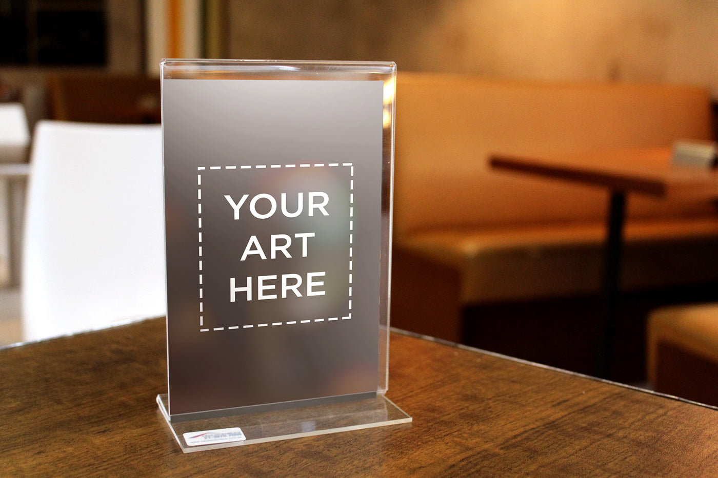 free thickness acrylic table standee mockup