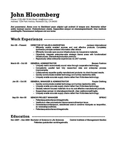 free resume templates in microsoft word doc docx format page 3