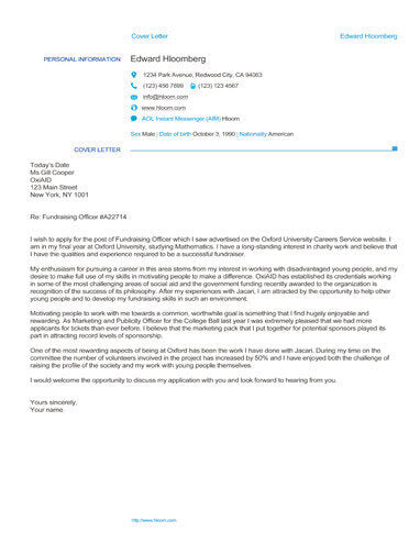 Free Cover Letter Templates in Microsoft Word (DOC/DOCX ...