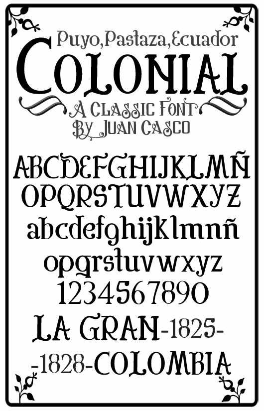 free colonial font