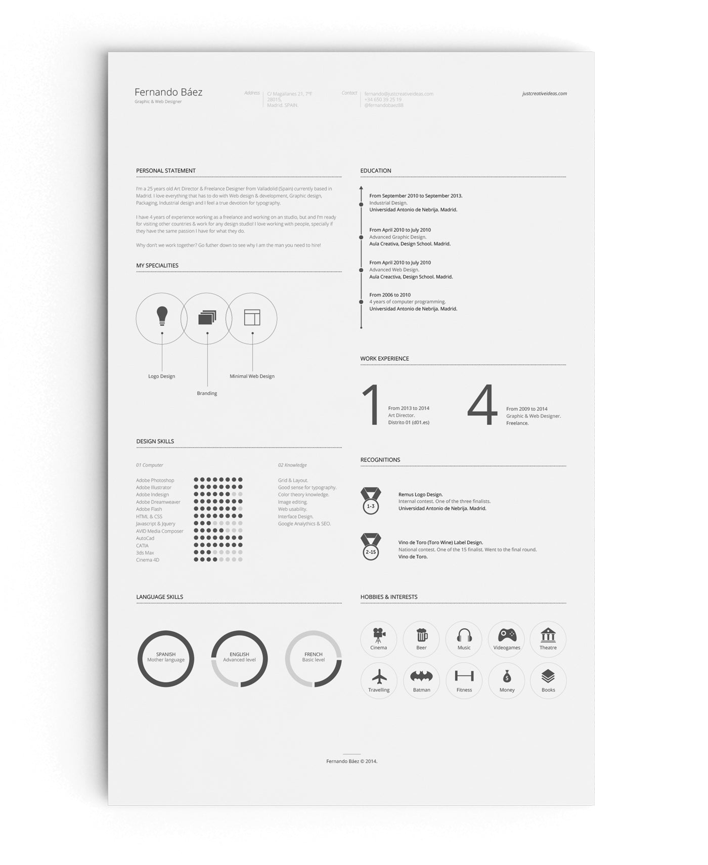Captivating Free Resume Template In Illustrator (AI) Format