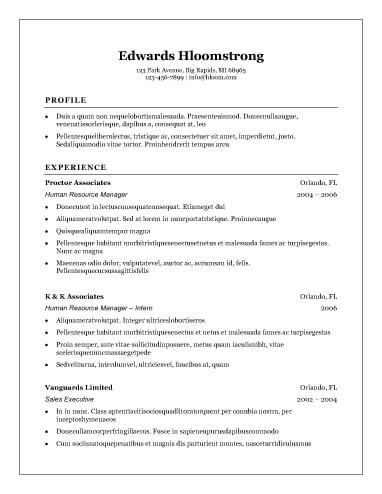 Free Traditional Elegance CV Resume Template in Microsoft ...