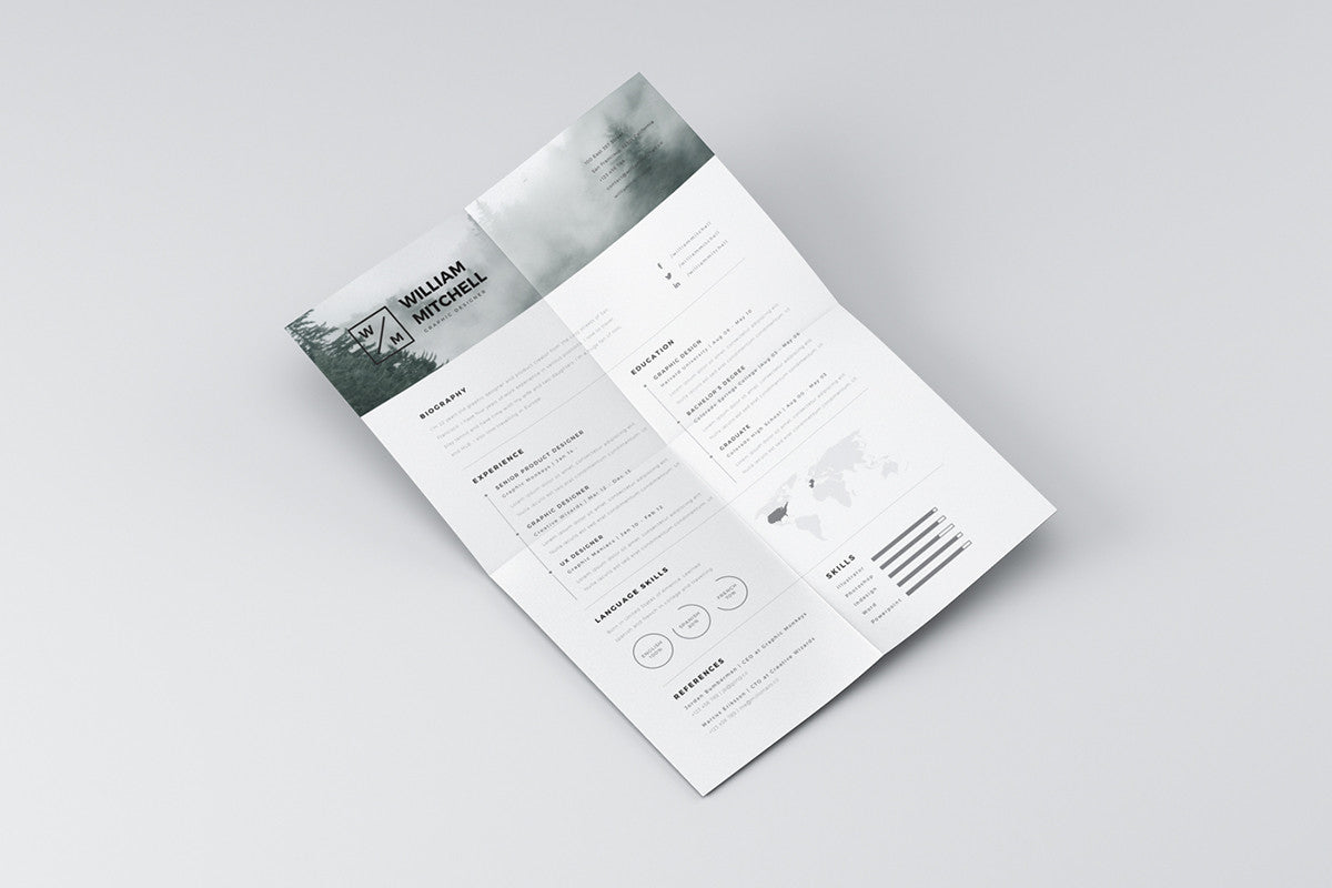 Free Minimalistic And Clean Resume Template - CreativeBooster