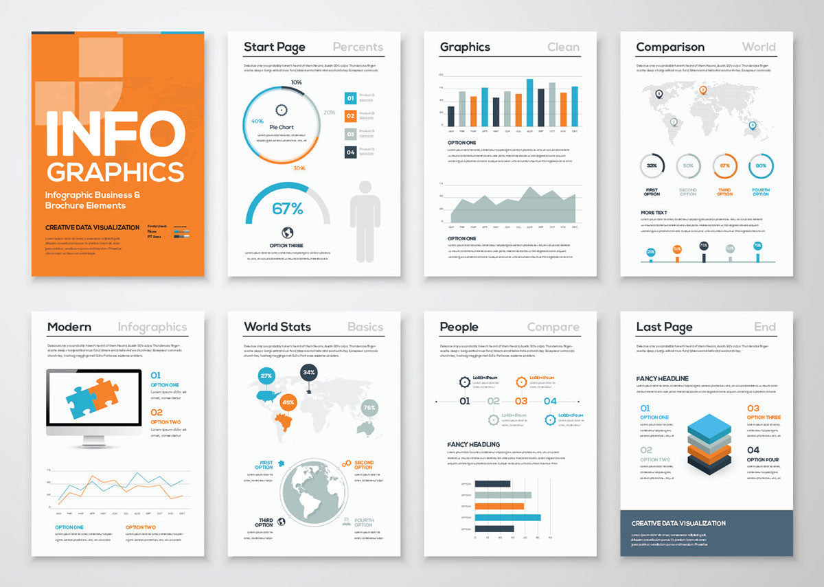 infographic brochure template creativebooster infographic brochure template