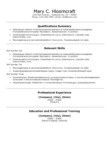 Free Functional Centred Traditional CV Resume Template in ...