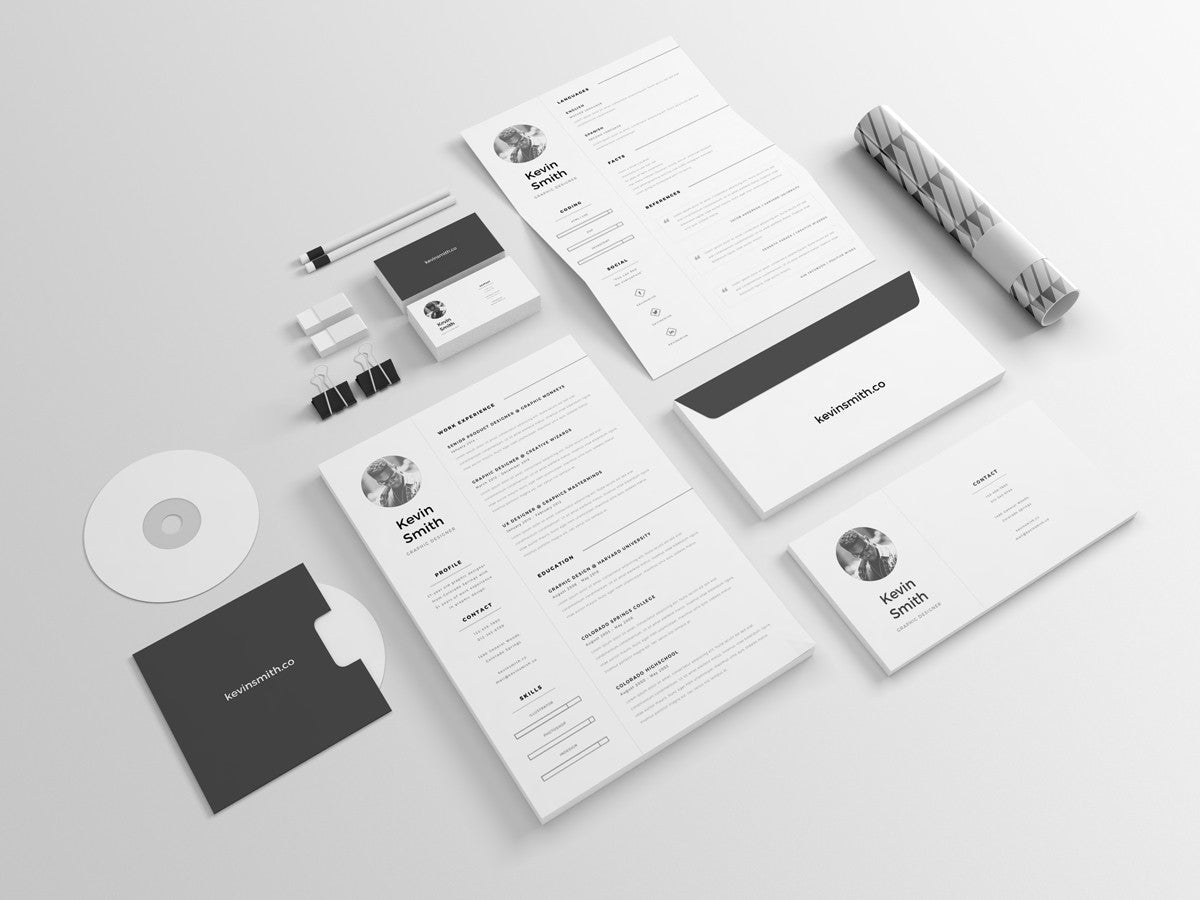 clean and minimal resume template creativebooster clean and minimal resume template