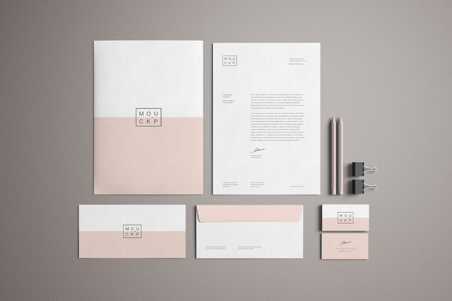 Perfect Free Advanced Clean Branding Stationery Mockup Business Card And Letterhead  Paper