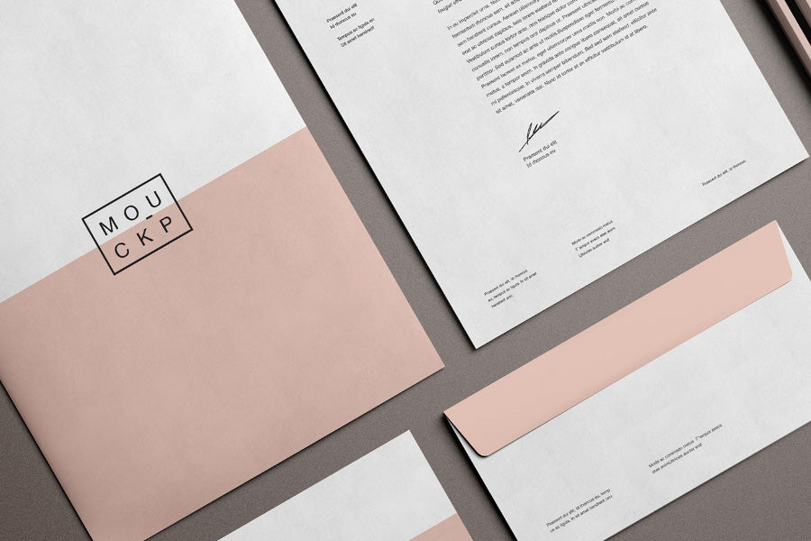 Free Advanced Clean Branding Stationery Mockup Business Card And Letterhead  Paper