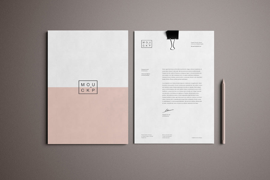free advanced clean branding stationery mockup business card and