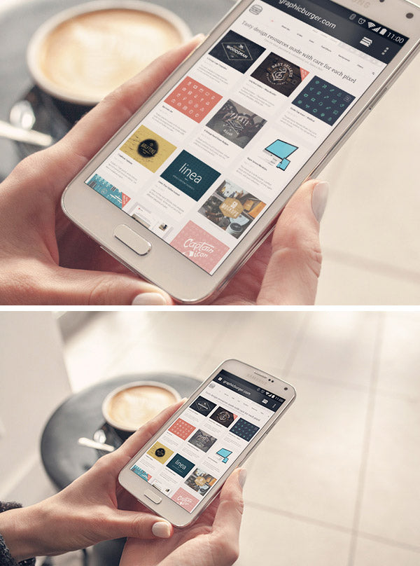 Free Android Phone PSD MockUp - CreativeBooster