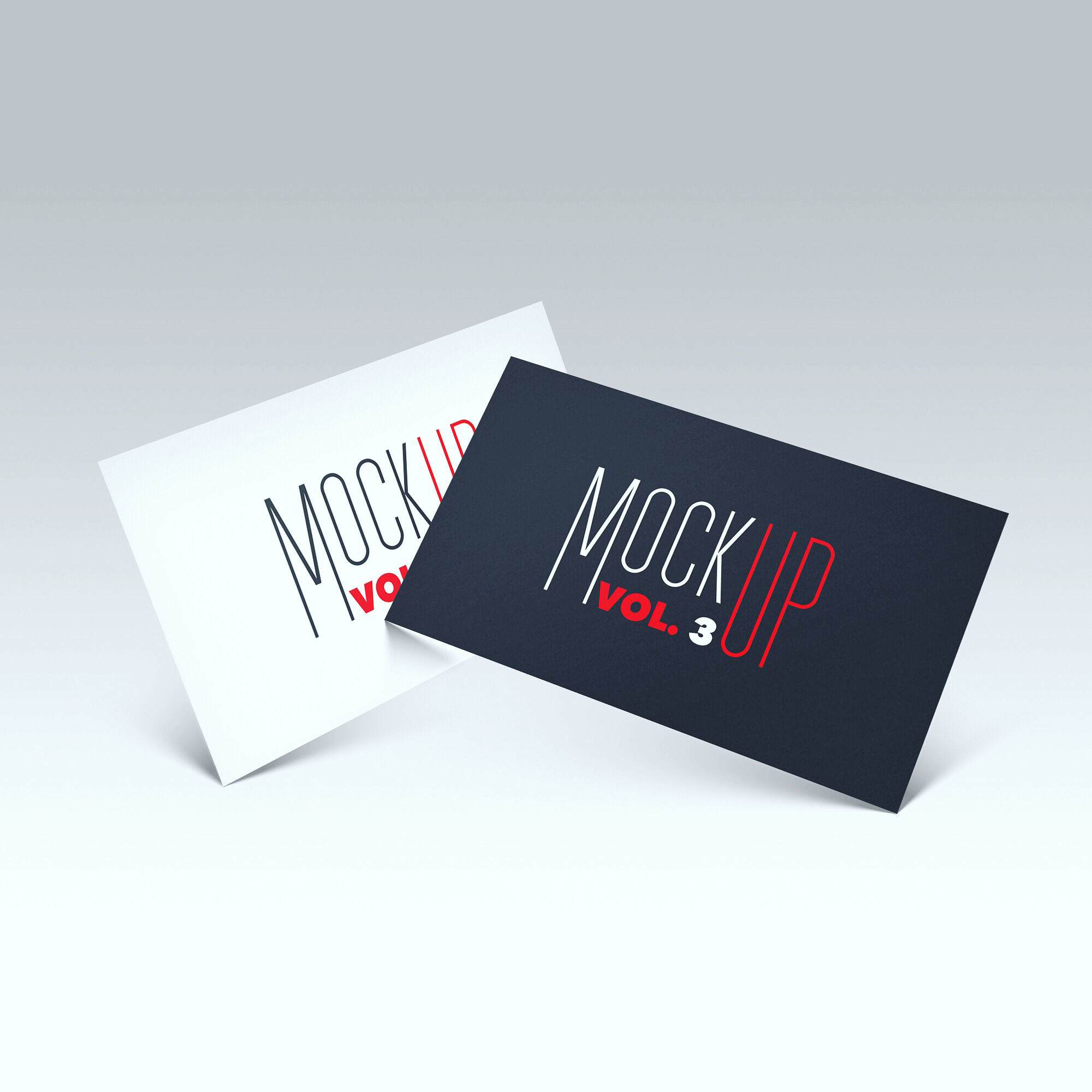 Free Floating Front Business Card Photoshop Psd Mockup