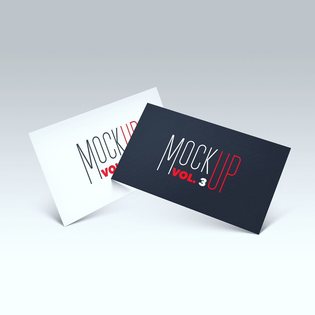 Free business card mockups creativebooster free floating front business card photoshop psd mockup reheart Image collections