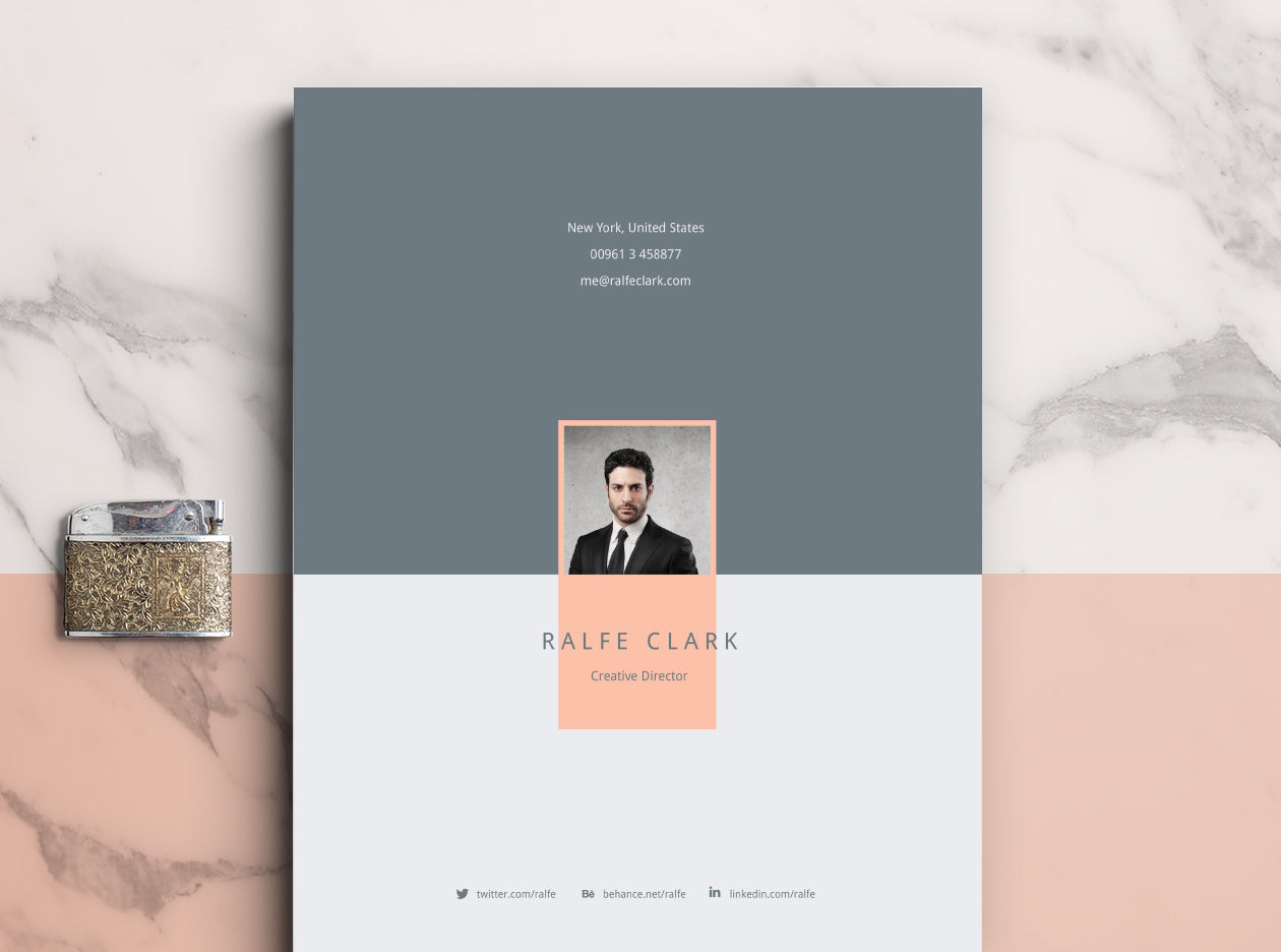 Free Clever Resume And CV Template In Illustrator AI Format