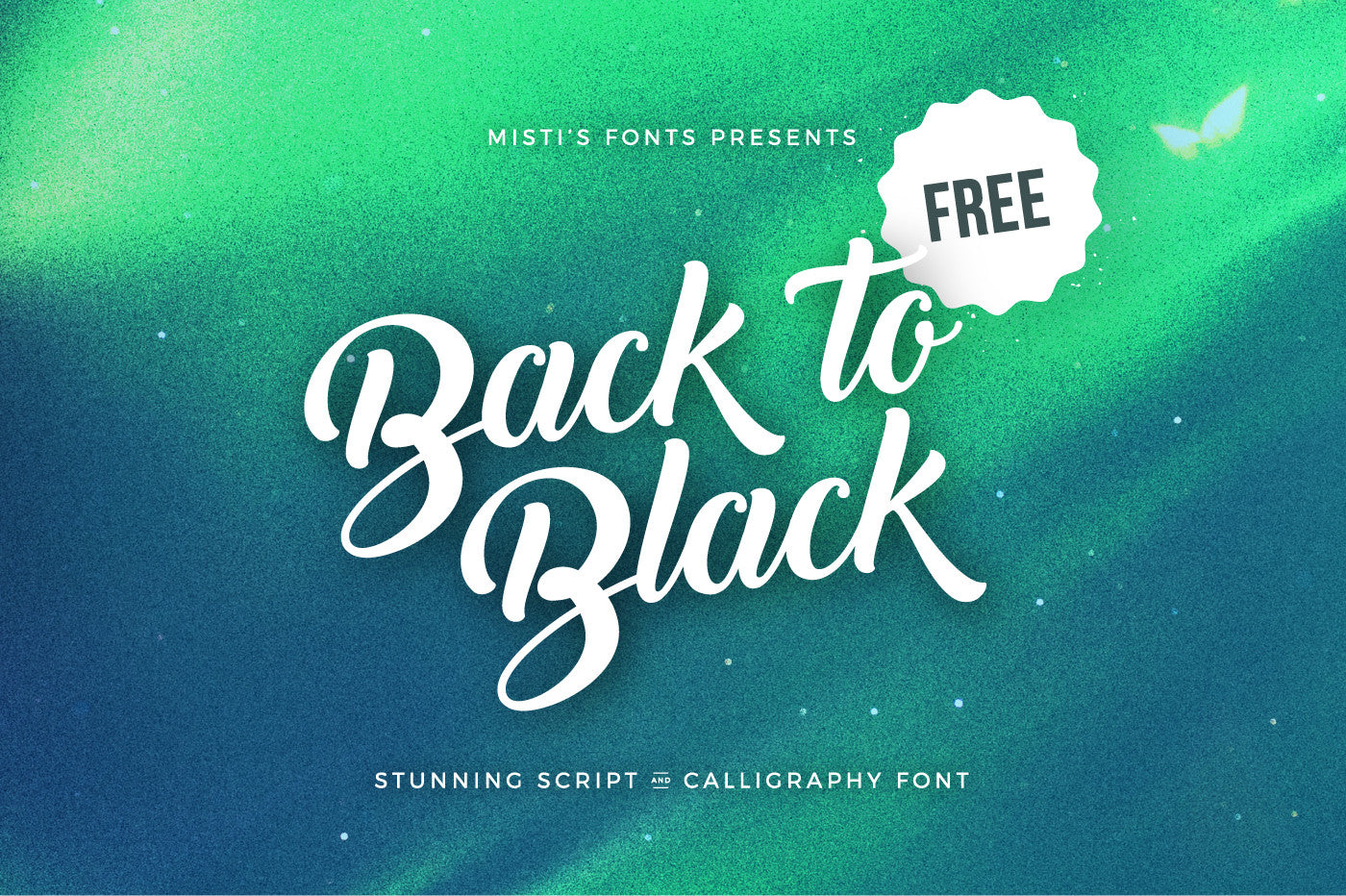 Back to Black - Free Script & Calligraphy Font - CreativeBooster
