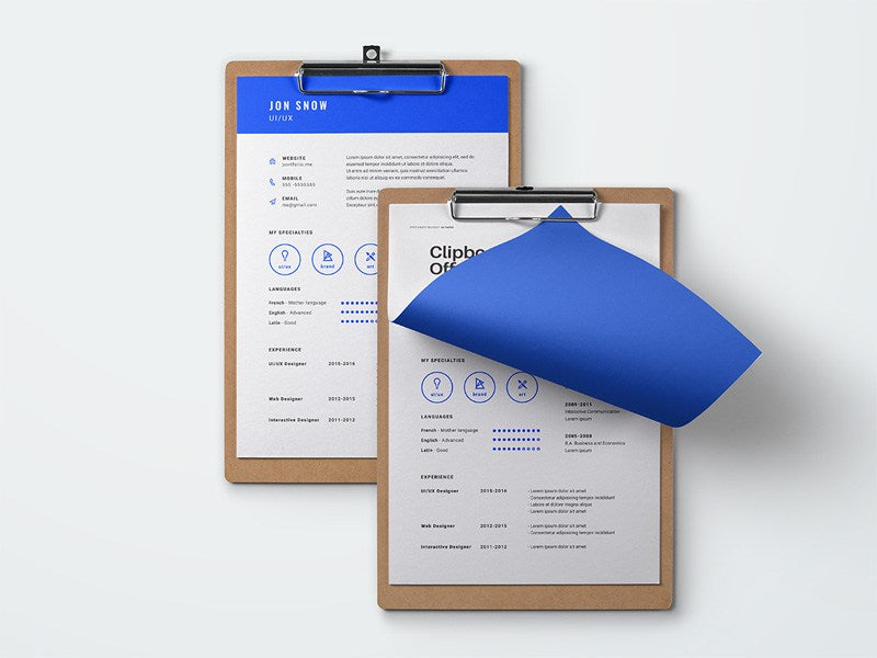 Free Blue Resume CV Template in Photoshop  PSD  Format