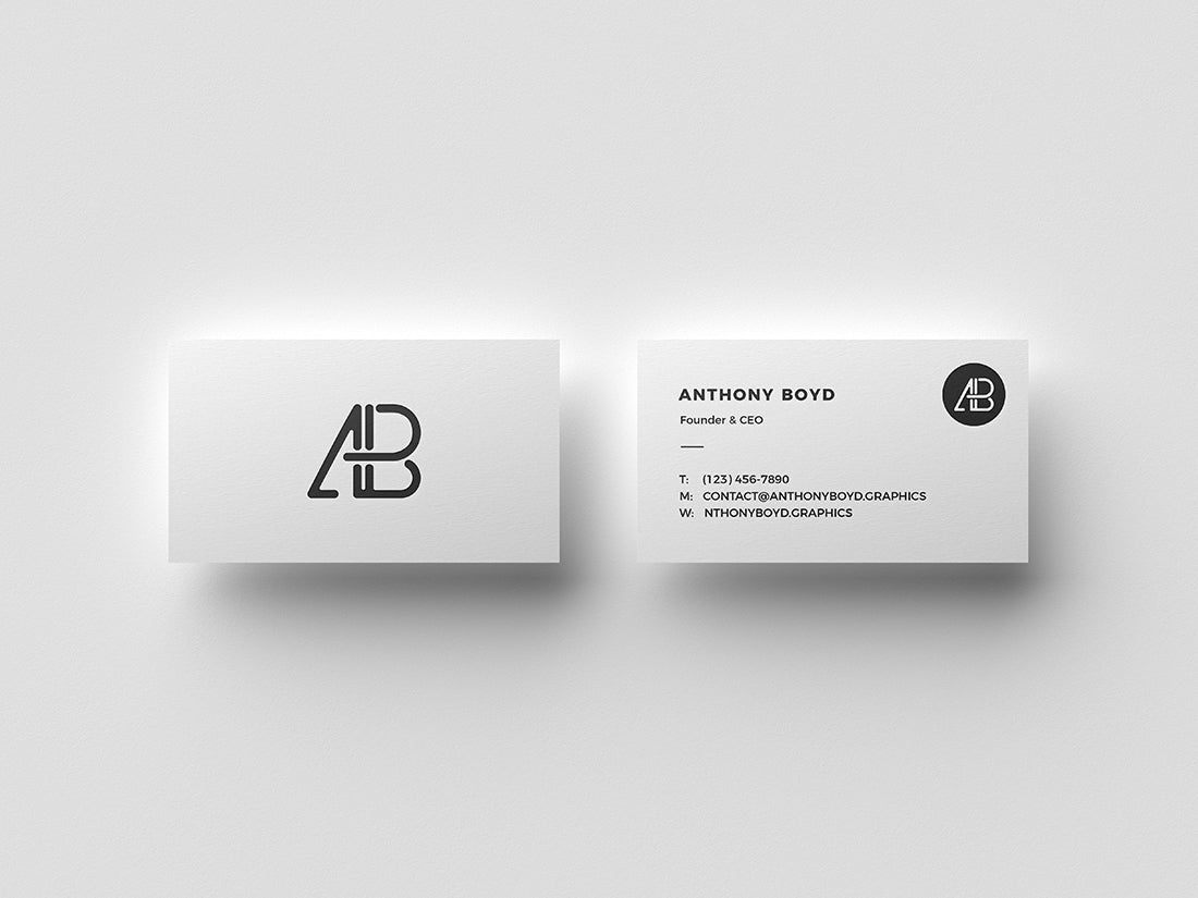 Free two business cards top view mockup creativebooster free two business cards top view mockup colourmoves