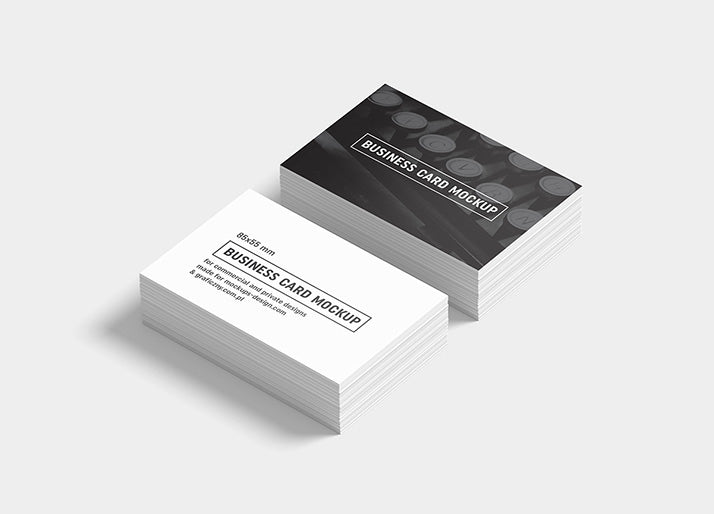 Free Big Collection Of 6 Business Card Mockups 85x55 Mm