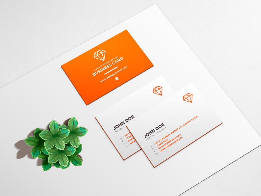 Free Clean Business Card PSD Mockup - CreativeBooster