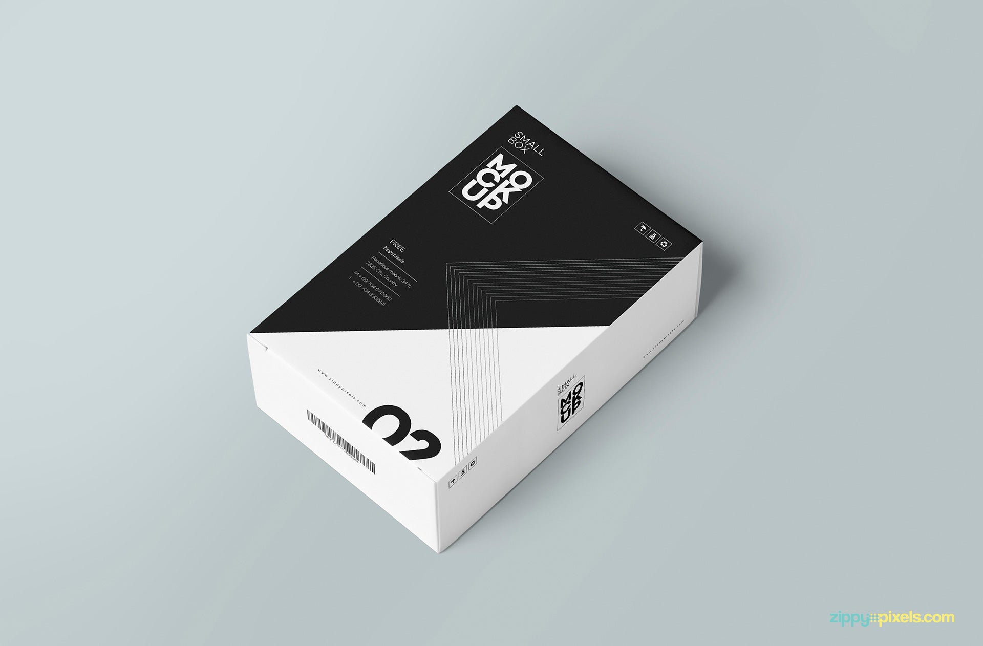 free customizable card box mockup creativebooster