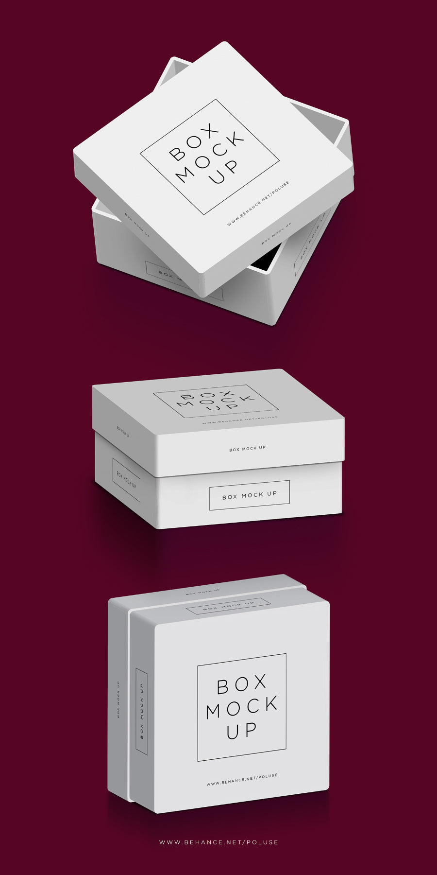 Free White Square Psd Packaging Box Mockup Creativebooster