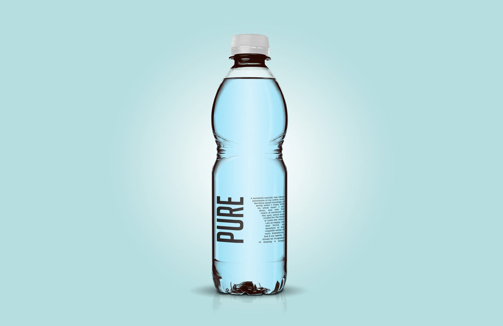 free clear plastic bottle mockup