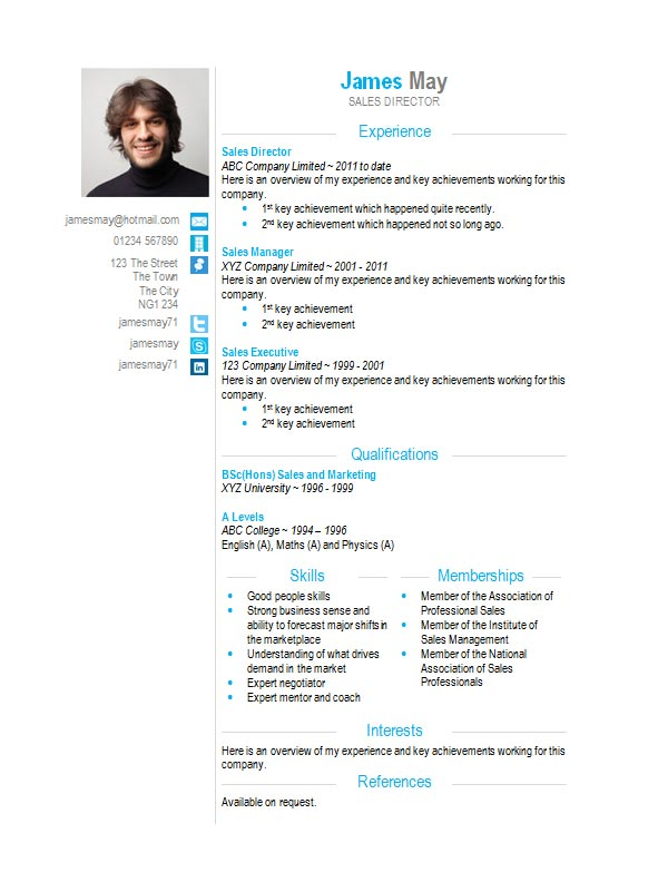 word format for resume