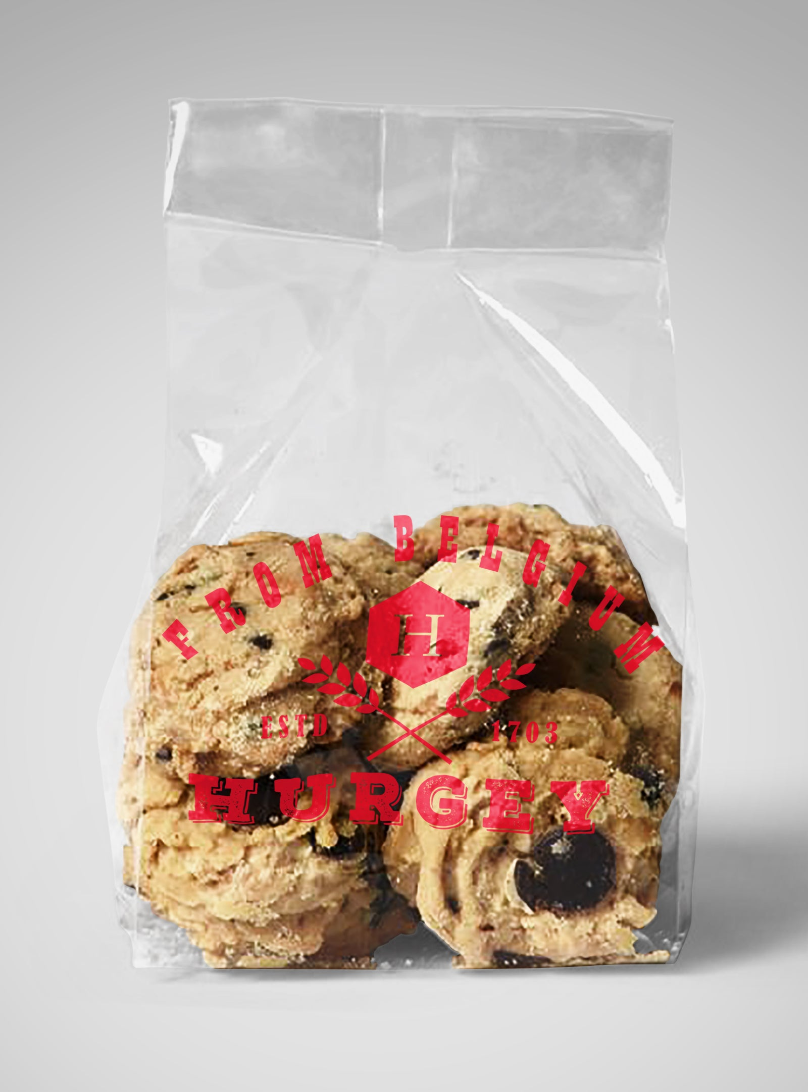 free bread and cookies plastic bag mockups