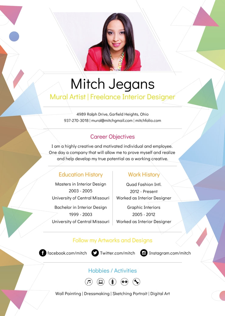 Free Creative Resume Cv Template In Photoshop Psd And Illustrator