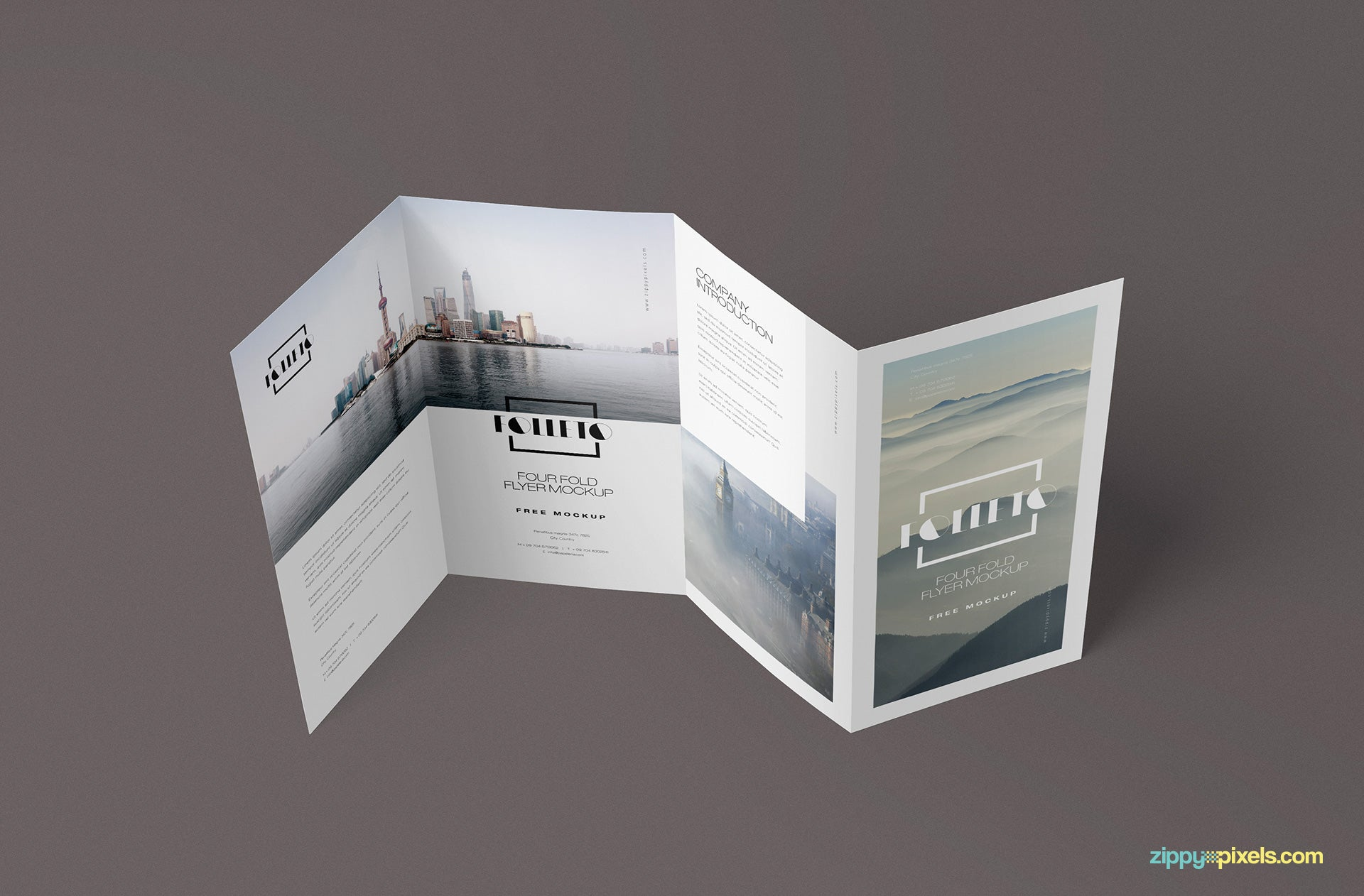 free photo realistic folded brochure mockup creativebooster