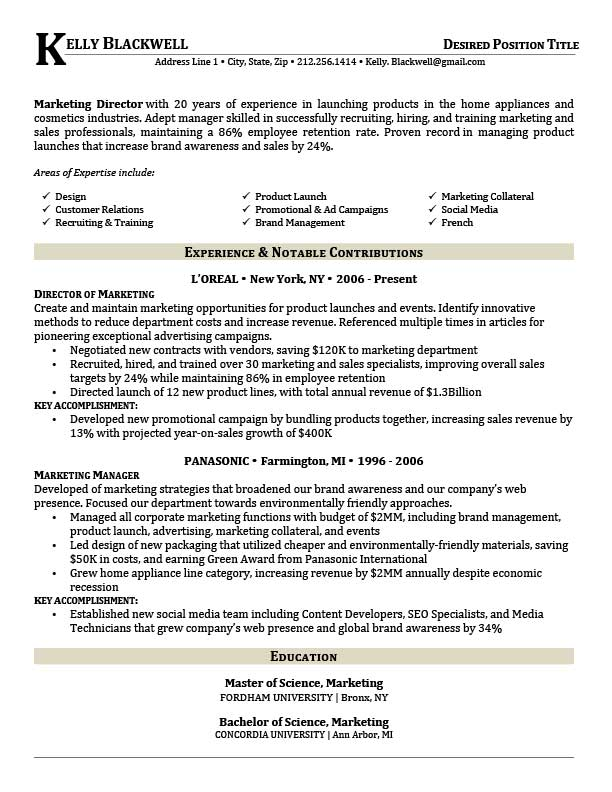 free executive career resume templates in microsoft word