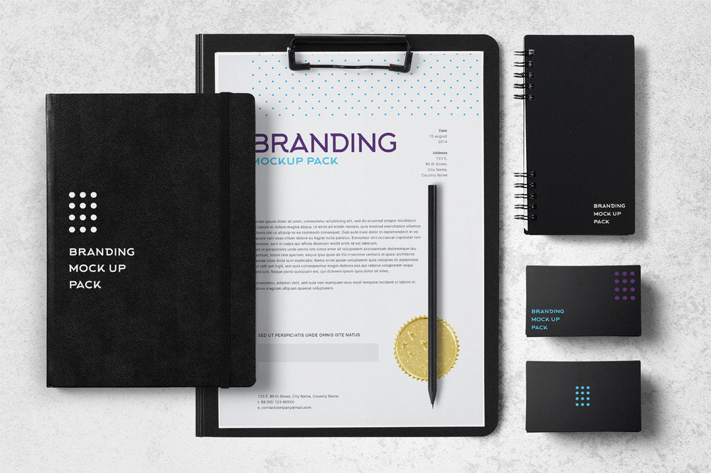 Free mockups magazine business card poster imac macbook pro free multipurpose branding mockup pack with pen notebook and business cards reheart Choice Image