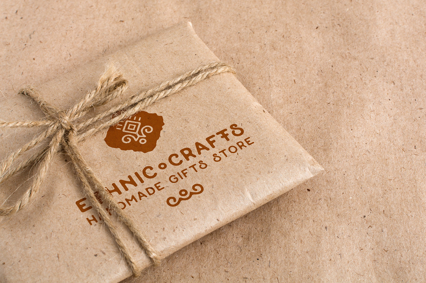 free ecology craft paper packaging psd mockup