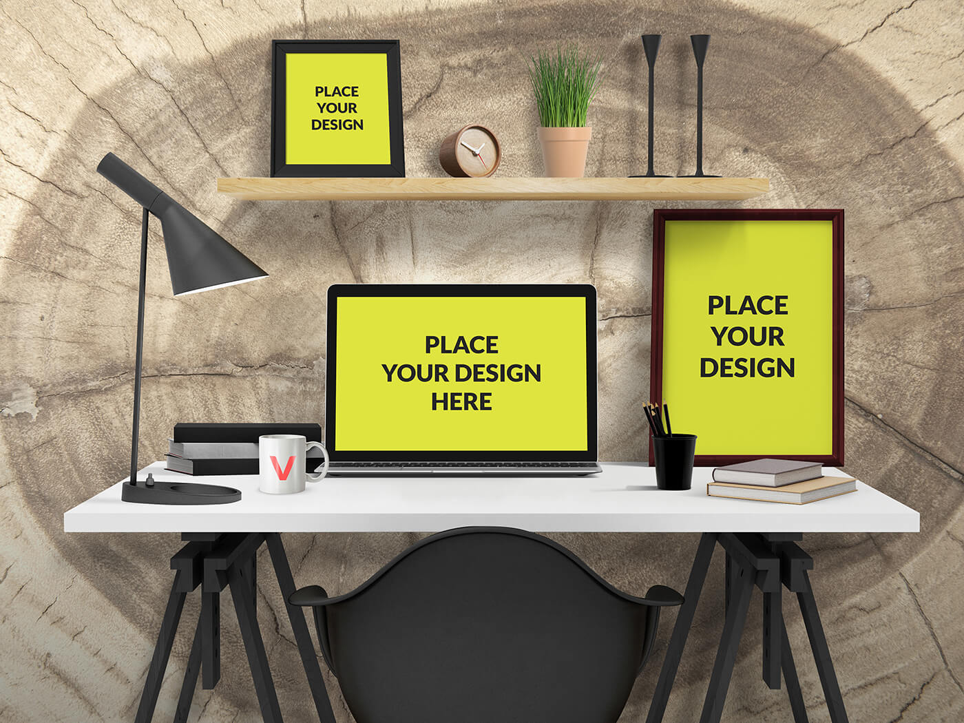 free office desk mockup set creativebooster rh creativebooster net Instagram Desk Mockup Instagram Desk Mockup