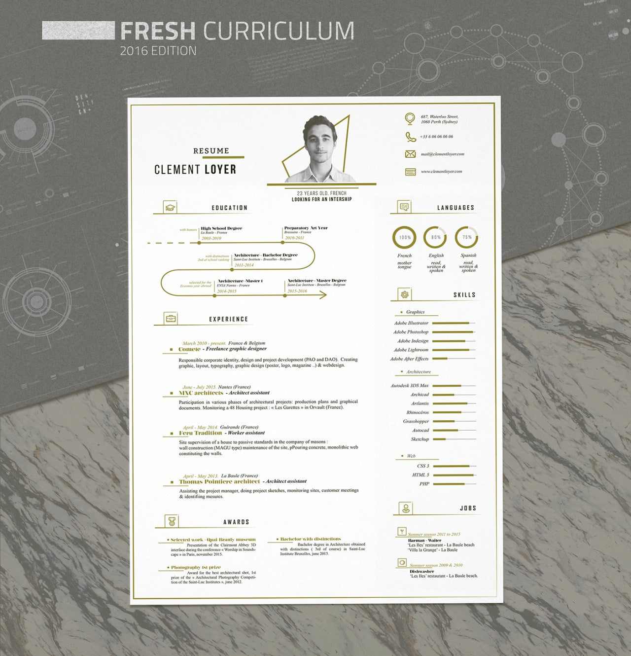 free fresh resume and cv template for illustrator  ai