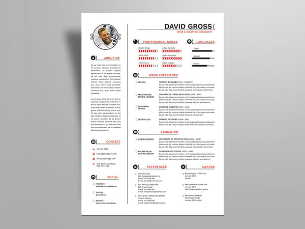 resume indesign template free resume templates in indesign format creativebooster 24361 | Free Hipster Style Resume Template For Job Seeker grande