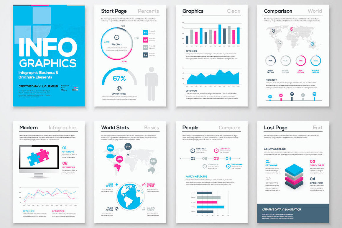 Free Infographic Brochure Template CreativeBooster - Fancy brochure templates