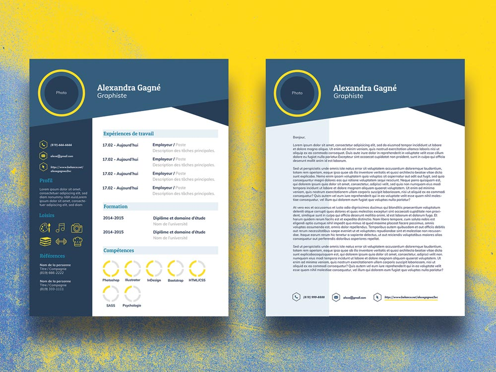 free infographic cv resume template with cover letter in