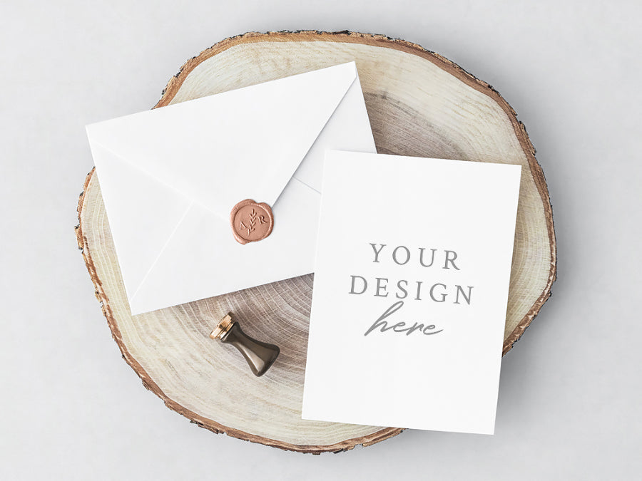 Free White Psd Invitation Card And Envelope Creativebooster