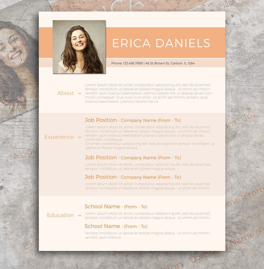 Free Modern Professional Resume Template In Photoshop PSD Format