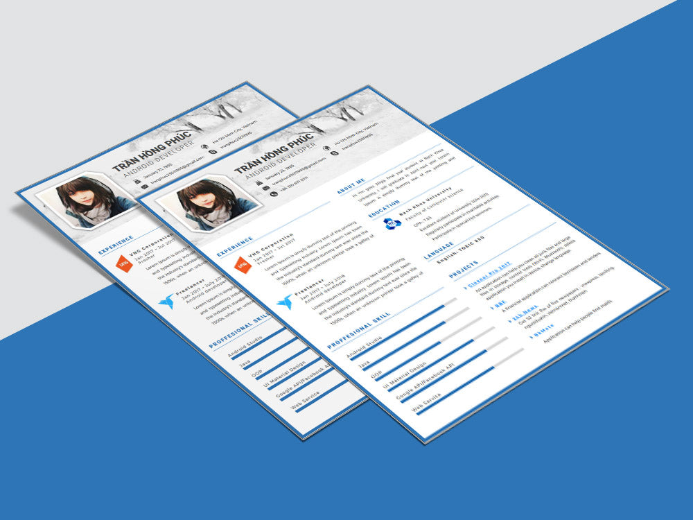 Free Resume Cv Template With Simple And Clean Design In
