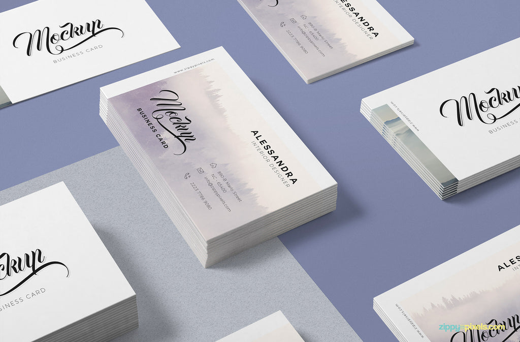 Free business card mockups creativebooster free isometric business card mock up accmission Images