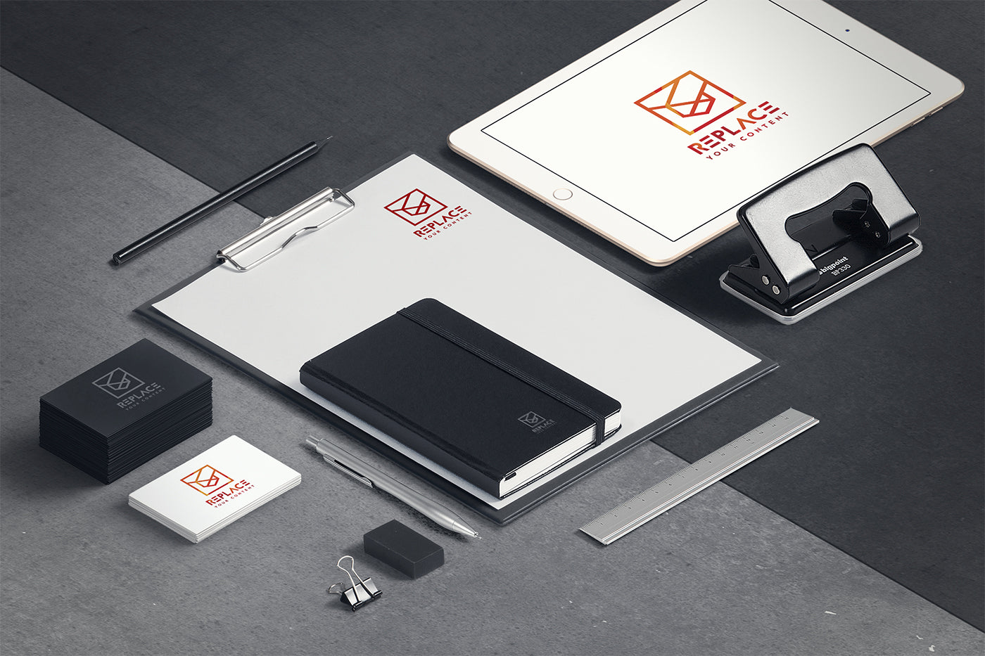 Free Isometric Stationery Mockup Scenes (Including Macbook Pro ...