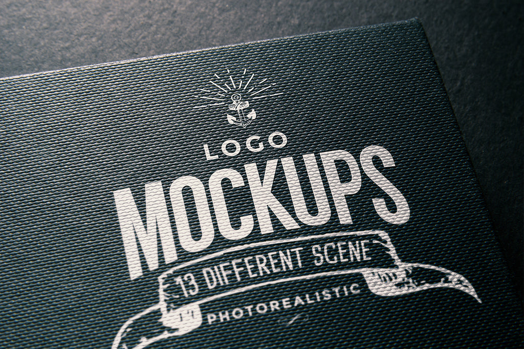 free collection of hyper realistic logo mockups