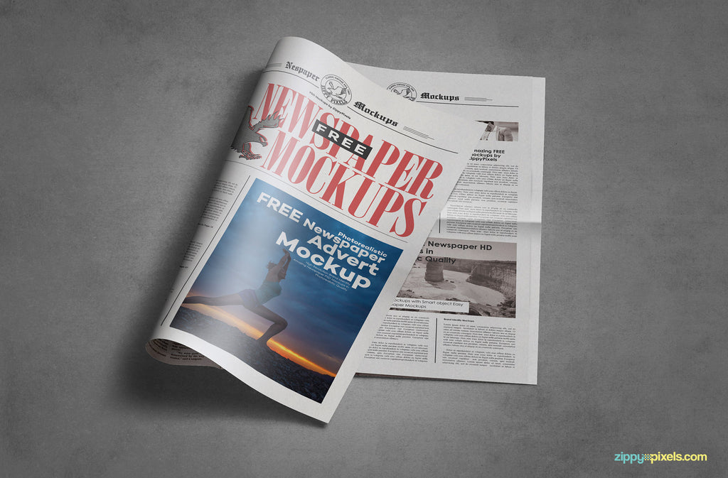 free newspaper template.html