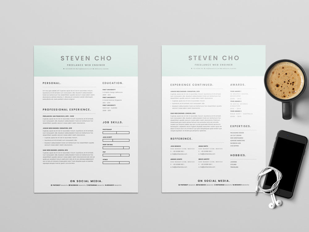 free freelancer resume cv template in microsoft word  doc