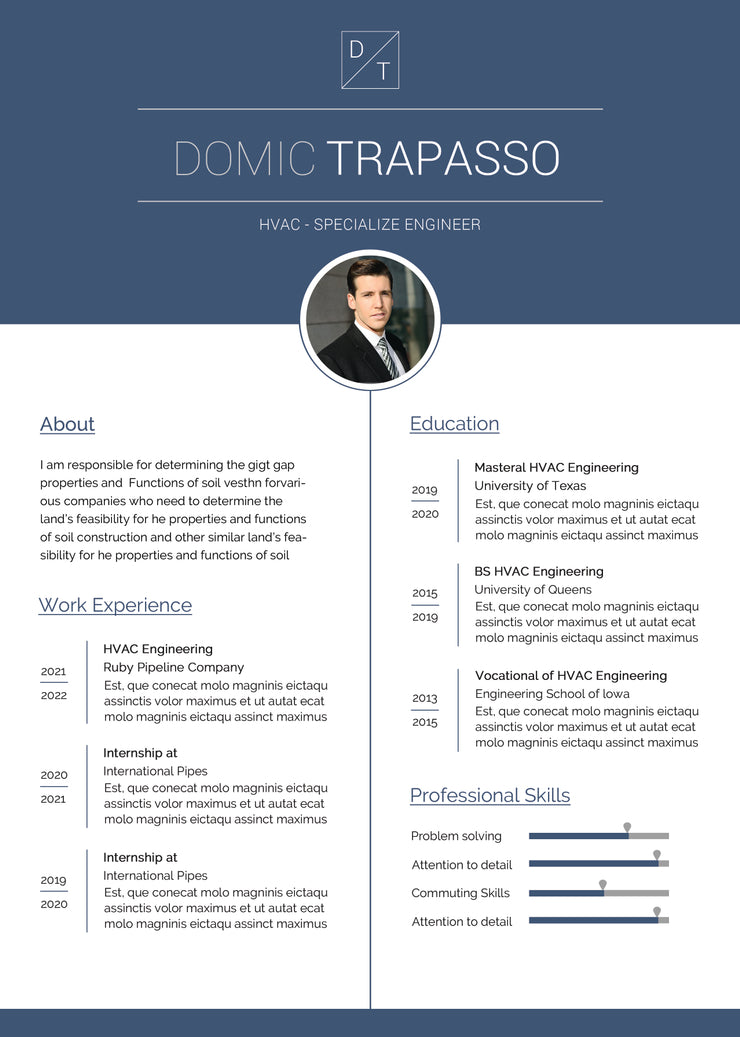 free hvac engineer resume cv template in photoshop  psd