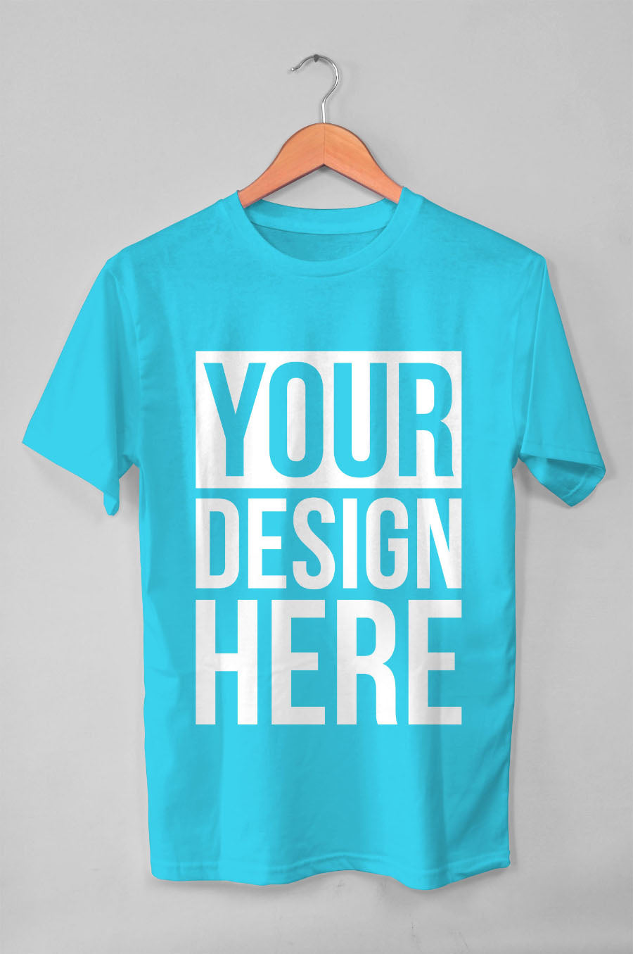 Free Hanging Blue T Shirt Mockup Creativebooster